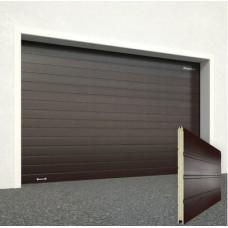 Ворота секционные серии RSD01SС №2 ширина 2500 высота 2215 доска, коричневые 8017