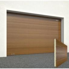 Ворота секционные серии RSD01SС №13 ширина 3350 высота 2115 доска, золотой дуб