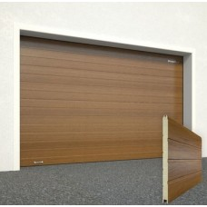 Ворота секционные серии RSD01SС №15 ширина 2500 высота 2515 золотой дуб