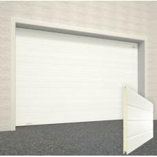 Ворота секционные серии RSD01SС №13 ширина 3350 высота 2115 доска, белые