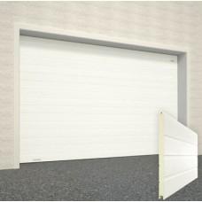 Ворота секционные серии RSD01SС №3 ширина 2500 высота 2390 доска, белые